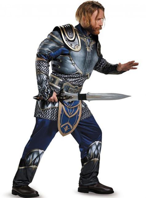 Fato de Lozar World of Warcraft musculoso para homem
