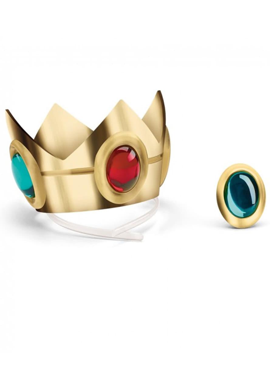 couronne et amulette princesse peach adulte zoom - Couronne Princesse Adulte