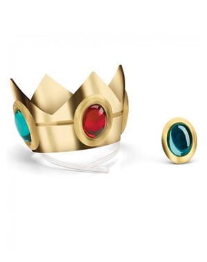 Prinsesse Peach krone og amulet til voksne
