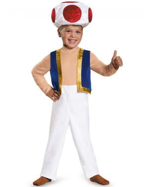 Toad Mario Bros Kostüm für Jungen
