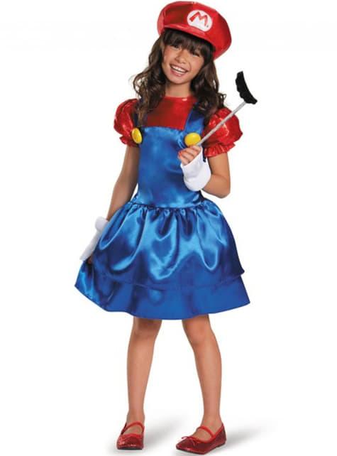 Disfraz Brillante de Super Mario para niña