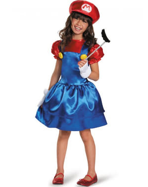 Disfraz  de Super Mario vestido para niña