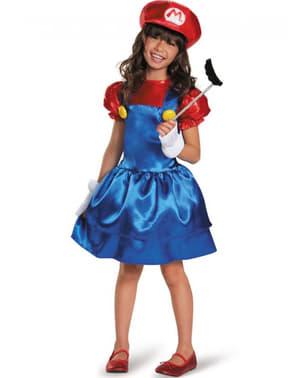 Дівчина Sparkly Супер Маріо костюм