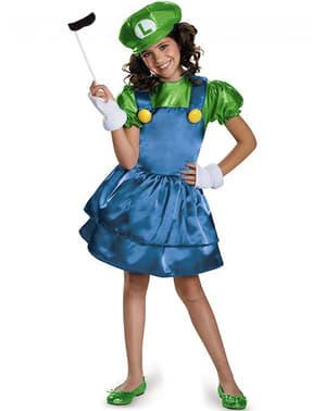 Fato  de Luigi vestido para menina