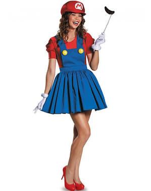 Жіночий блискучий супер-костюм Маріо