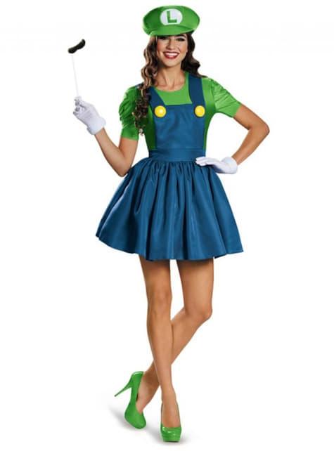 Luigi Dress Costume for Women