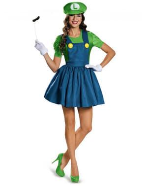 Disfraz  de Luigi vestido para mujer