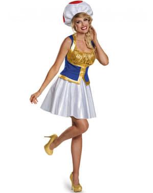 Toad Super Mario Kostyme Dame
