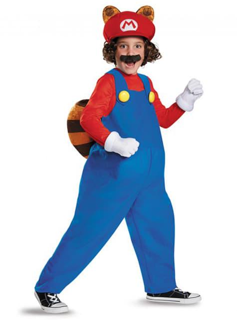 Disfraz de Mario Racoon para niño
