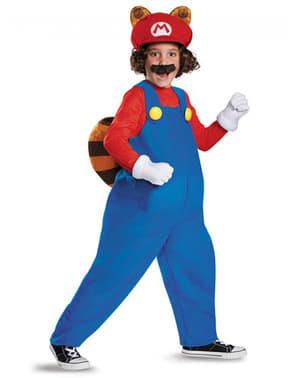 Disfraz de Mario Raccoon para niño