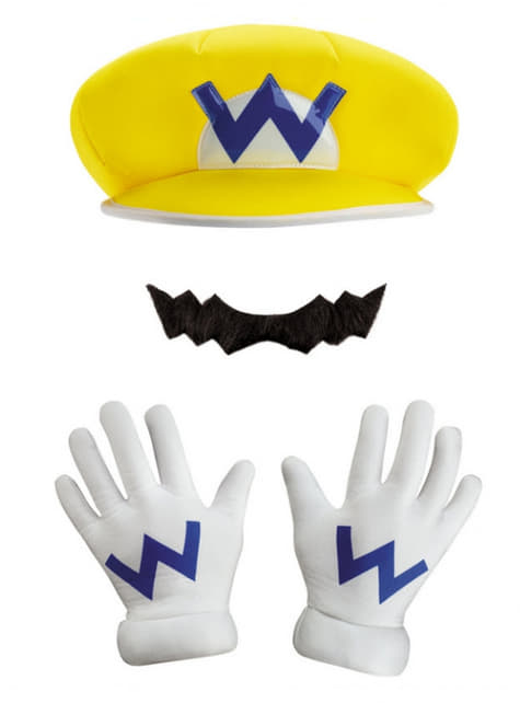 Adult's Wario Cap and Moustache