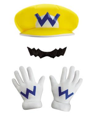 Wario hat og overskæg til voksne