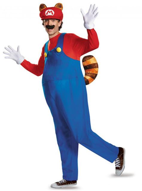 Mario Racoon Kostüm für Erwachsene
