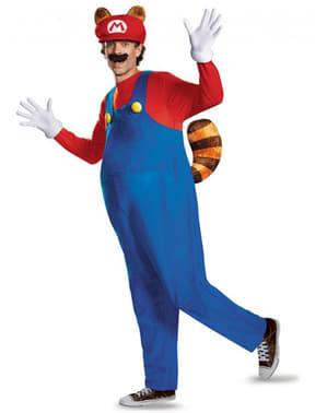Fato de Mario Racoon para adulto