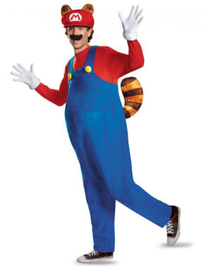 Maskeraddräkt Mario Racoon för vuxen