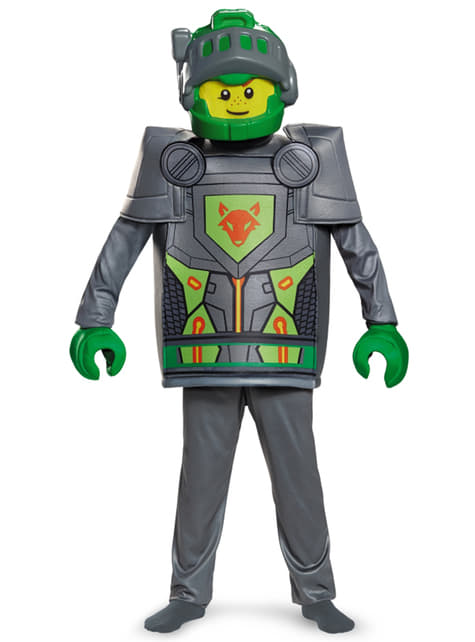 Aaron Lego Nexo Knights deluxe kostuum voor kinderen