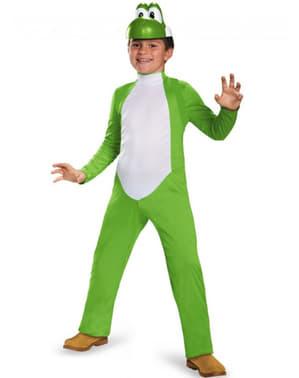 Yoshi deluxe kostuum voor kinderen
