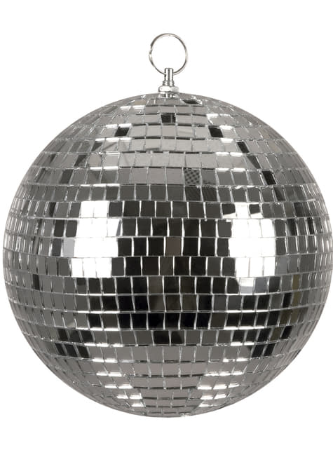 Bola de disco prateada