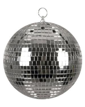 Boule disco argentée