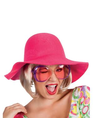 Sombrero de ala rosa para mujer