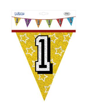 Bandeirolas com número 1