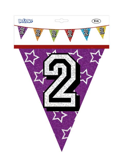 Bandeirolas com número 2