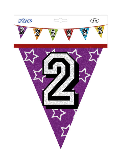 Banderines con número 2