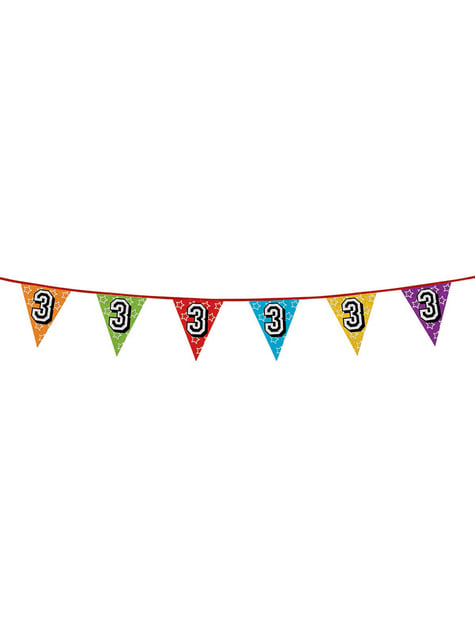 Number 3 Bunting