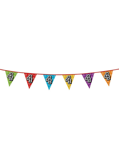Number 4 Bunting