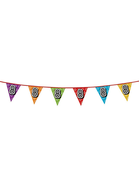 Number 8 Bunting