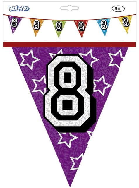 Banderines con número 8 - para tus fiestas