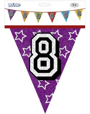 Banderines con número 8