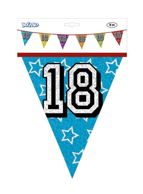 Banderines con número 18 - para tus fiestas