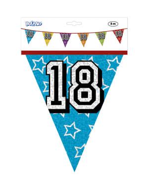 Vlaggenslinger met nummer 18