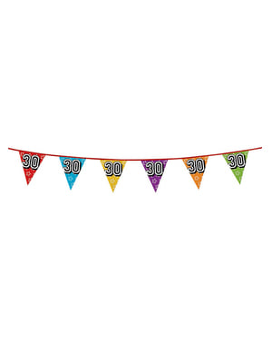 Number 30 Bunting