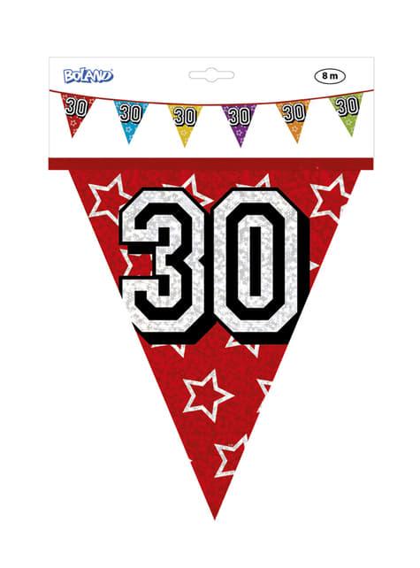 Banderines con número 30