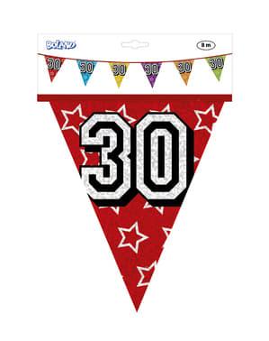 Vlaggenslinger met nummer 30