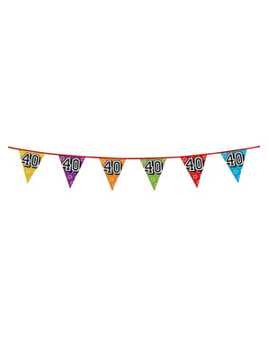 Number 40 Bunting