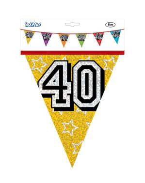 Vlaggenslinger met nummer 40
