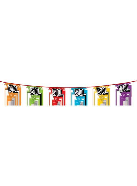 Banderines con número 50 - para tus fiestas