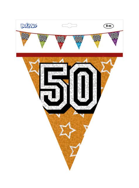 Banderines con número 50 - barato