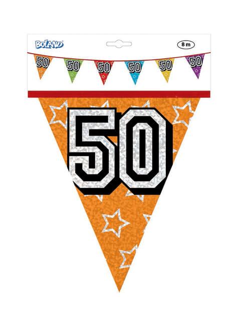 Banderines con número 50 - para niños y adultos