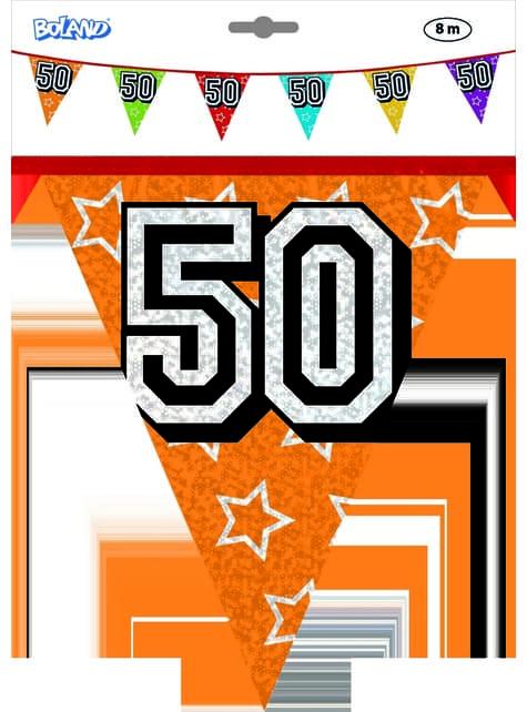 Banderines con número 50 - original