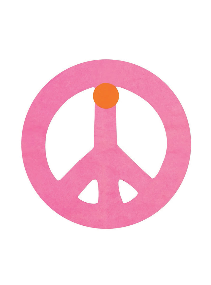 Multi Coloured Peace Symbol Banner Express Delivery Funidelia