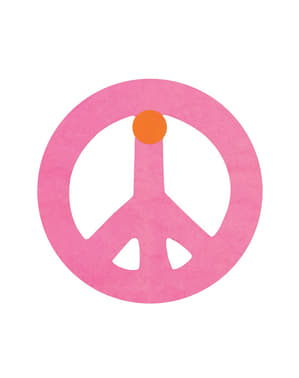 Multi-coloured Peace Symbol Banner