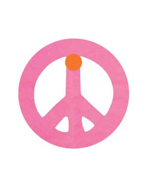 Vlaggenslinger multicolor met peace teken