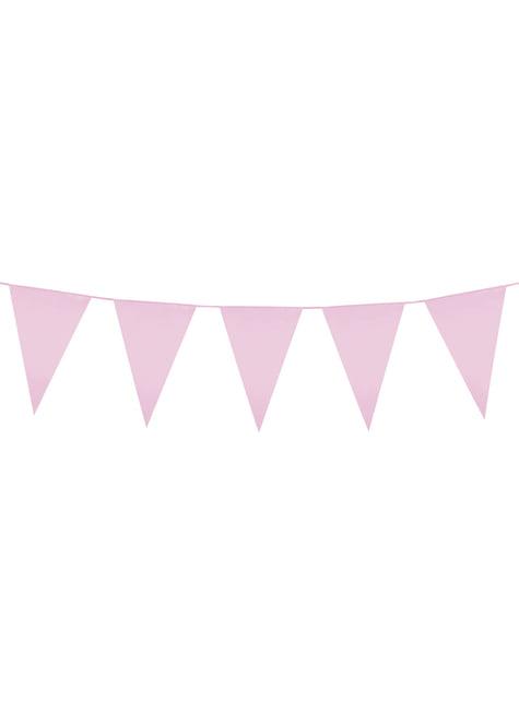 Roze vlaggenslinger