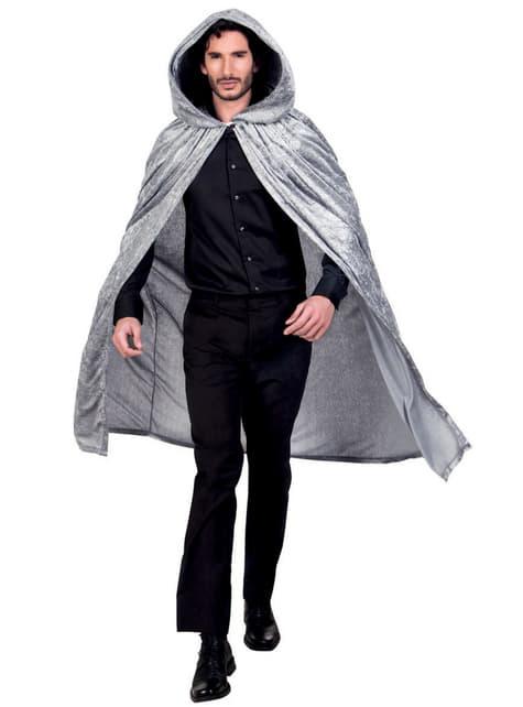 Cape à capuche grise adulte