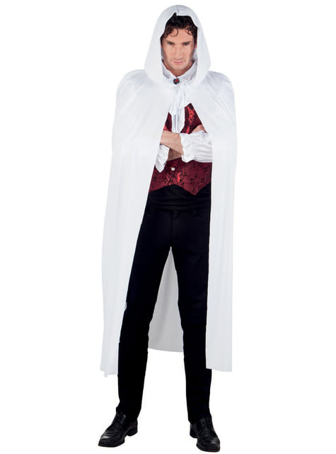 Adult's White Hooded Cape