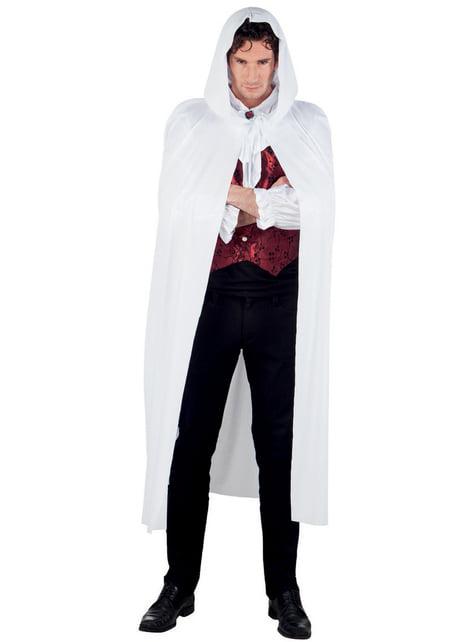 Capa con capucha blanca para adulto - para tu disfraz